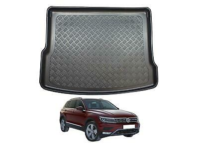 Tailored Fit Black Boot Liner Tray Protector Floor Mat For VW Tiguan (2016 On) • 19.99£