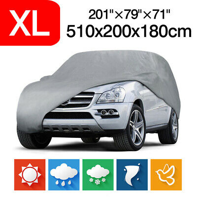 XL Full Car Cover For SUV Van Truck Indoor Outdoor Dust UV Snow Sun Protection • 19.99£