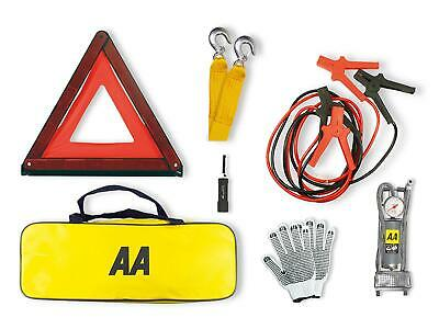 AA Emergency Breakdown Kit Car Safety Road Side Warning Triangle Tow Rope Torch • 29.95£