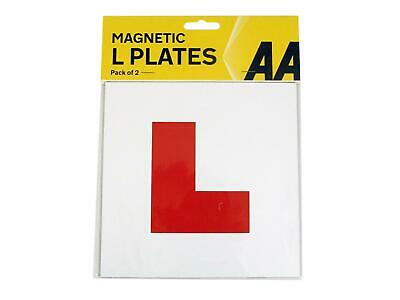 AA 2x Magnetic L Plates UK Learner Exterior Secure Car Driver Plate Sign Pair • 2.99£