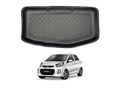 Tailored Fit Black Boot Liner Tray Car Rear Floor Mat For Kia Picanto (11-17) • 18.99£