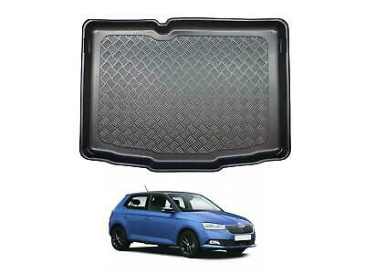 Tailored Fit Black Boot Liner Tray Mat For Skoda Fabia (2015 On) [Hatchback] • 18.99£