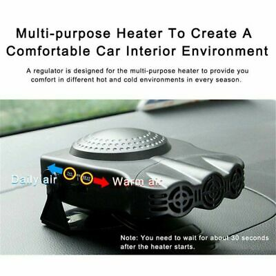 1xPortable 12V Car Fan Heater Cooler Windscreen Demister Defroster Cold/Hot Wind • 10.99£