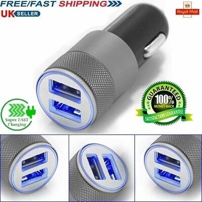Car Charger 2 Port Dual Twin USB Cigarette Socket Lighter Adapter Samsung IPhone • 2.99£