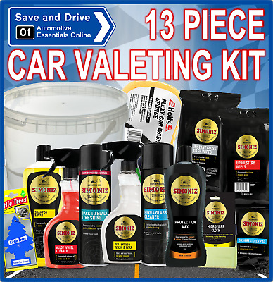 Car Valeting 13 Piece Gift Pack Cleaning Kit Wash & Wax Polish Motoring Present • 28.99£