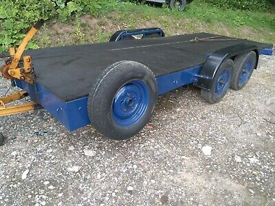 Twin Axle 16ft. Flatbed Plant Trailer • 510£