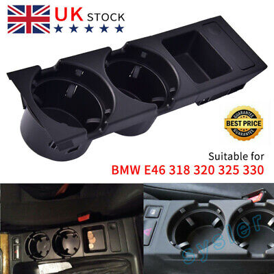Center Console  Cup Holder Black Cup Holder Coin Storage Tray For E46 325 330*UK • 13.59£