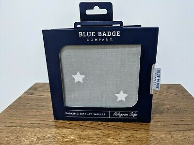 Blue Badge Company Parking Display Wallet, Grey With White Stars • 0.99£