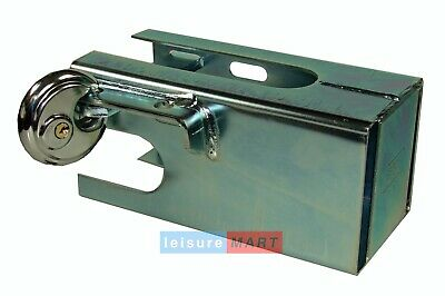 Trailer Coupling Hitch Security Lock, Steel Coupling Safe With Padlock And Keys • 20.44£