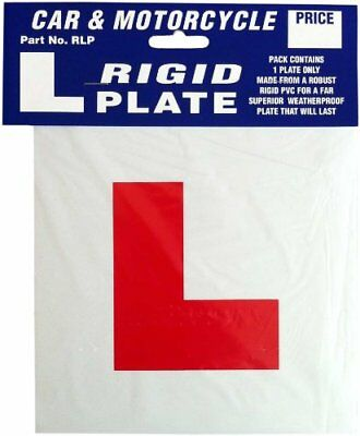 Rigid Hard Plastic Learner Driver L Plate Exterior Car Motorbike Motorcycle • 3.25£