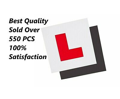 L Plate For Car Learner Fully Magnetic Learning To Drive Exterior Secure 2 Pcs • 1.98£