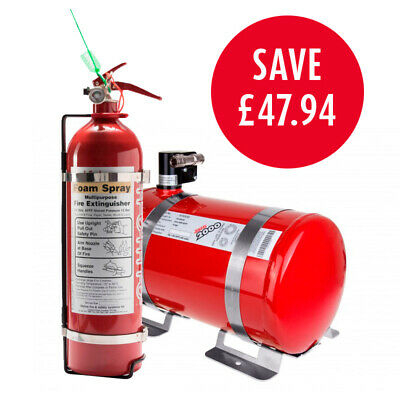 Lifeline Rally Pack 2000 FIA 4 Litre Electric Car Fire Extinguisher 2.4 Handheld • 637.20£