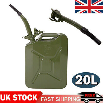 20L Metal Jerry Can Car Storage Fuel Petrol Diesel Oil Container Large Capacity • 21.59£
