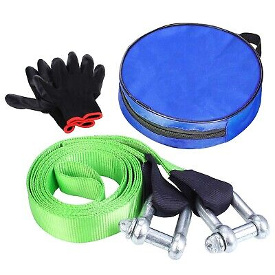 12TON 5M Tow Rope Towing Pull Strap Heavy Duty Offroad Recovery Quality Polyeste • 15.69£