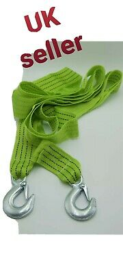 2.5 Metres  Tow Towing Pull Rope Strap 3 Tons Heavy Duty Road Car Van Recovery • 6£