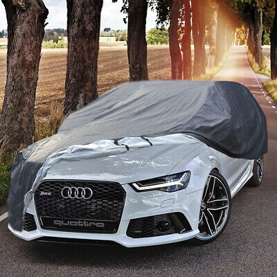 Heavy Duty 2 Layer Waterproof Outdoor Full Car Cover Cotton Lined SIZE LARGE L • 36.85£