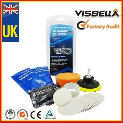 Headlight Restoration Kit Polishing Sealer • 10.29£