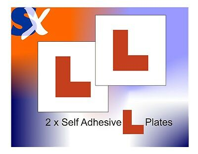 2 X Self Adhesive Stick On L PLATES  ****FREE  POSTAGE**** • 1.90£