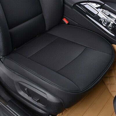 New PU Black Car Full Surround Front Seat Cover Breathable Chair Cushion Pad Mat • 16.99£