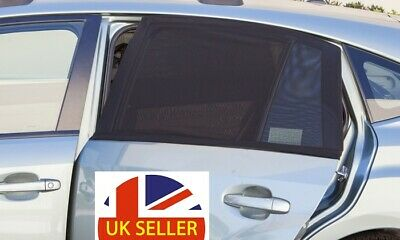2-Piece Universal Car Side Window Mesh UV Sun-Shade Screen Set STOCK CLEARANCE • 4.79£