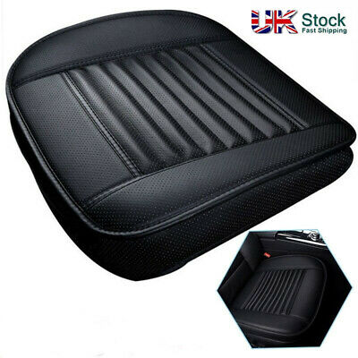 Car Front Seat Chair Cushion PU Leather Soft Pad Cover Black Protector Mat • 10.99£