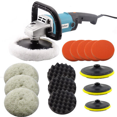 Electric Car Polisher Sander Buffer Polishing Machine Kit 1400w Variable Speed • 48.90£