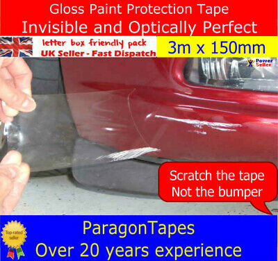 3m X 150mm PPF Gloss Paint Protection Film Car Door Edge Sill Boot Bumper Tape • 16.98£