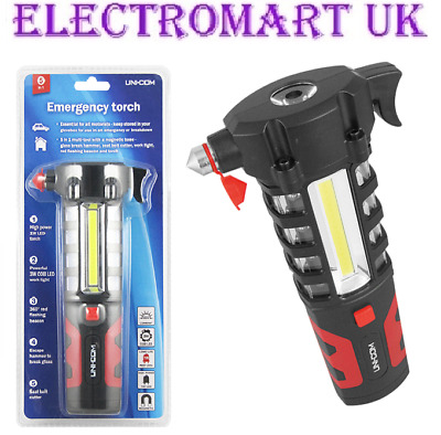 Car Emergency Flashing Red Led 3w Cob Work Light Hammer Torch • 9.90£