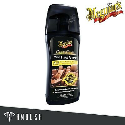 Meguiar's Gold Class 3-in-1 Leather Cleaner Conditioner Protector 400ml G17914EU • 11.03£
