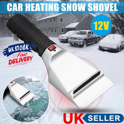 12V Car Electric Heated Ice Scraper Cleaning Shovel Windshield Snow Removal Tool • 8.20£