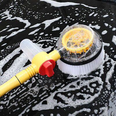 115cm Automatic Rotating Car Body Window Washing Brushes & Nozzles Cleaning Tool • 8.89£