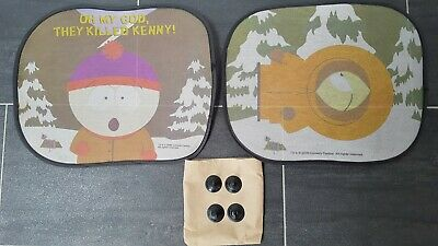 2 Southpark Sun Screen Shade Kids Shade For Car Foldable Kenny & Cartman • 4£
