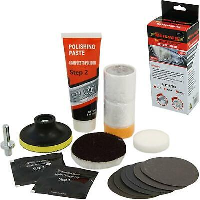 Neilsen Dull Headlight Restoration Car Headlamp Lens Restore Polish Cleaner Kit • 10.99£