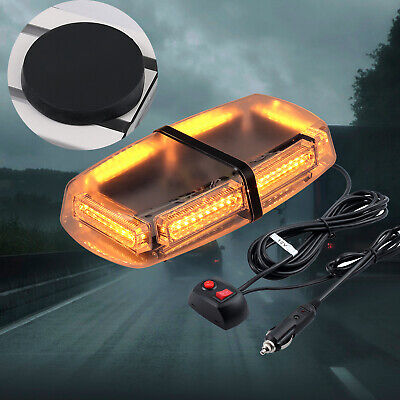 Car Roof Recovery Light Bar Amber Warning Strobe Flashing Beacon Magnetic 12/24V • 29.99£