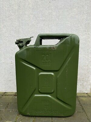 20 Ltr Jerry Can, Metal, Green • 5£