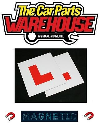 2 X L Plate Magnetic Exterior Car New Pair Learner Plates Secure & Safe • 2.49£