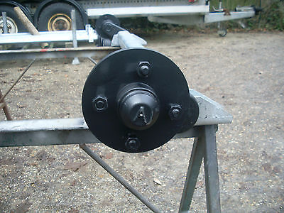 Trailer Axle 750 Kg Unbraked Extended Stubs 90mm Drop Arm To Hub 100mm Pcd Hub • 199£