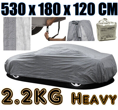 Heavy 2.2kg Extra Large Xl Full Car Cover 100% Waterproof Outdoor Rain Snow • 28.99£