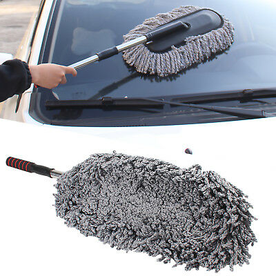 Telescoping Car Wash Cleaning Brush Duster Dust Wax Mop Microfiber Dusting Tool • 7.59£
