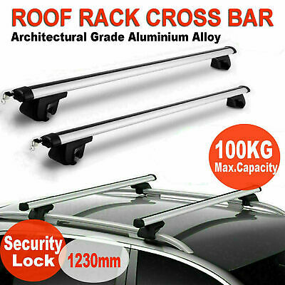 Universal Lockable Anti Theft Car Roof Bars For Cars With Rails Locking Roof Bar • 32.99£