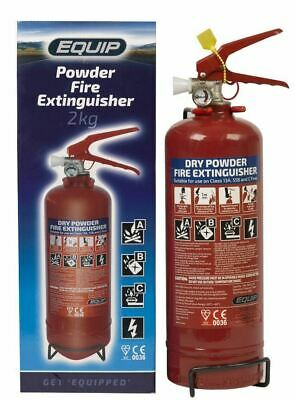 Fire Extinguisher 2kg Powder Gauge ABC Car Taxi Boat Home CE Kite Marked • 17.49£