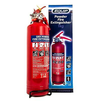 Fire Extinguisher 1kg  Powder Gauge ABC Car Taxi Boat CE Kite Marked • 14.49£