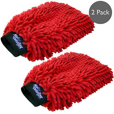 Microfiber Noodle Wash Mitt Thick Ultra Soft Car Washing Cleaning Sponge 2 Pack  • 9.99£