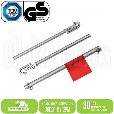 2 Ton Recovery Tow Towing Bar Straight Pipe Rigid Steel Pole Car Van Red Flag • 21.49£