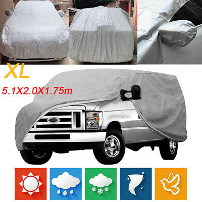 Waterproof Full Car Cover For SUV Van Truck In Out Door Dust UV Ray Rain Snow XL • 18.48£