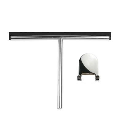 250mm Stainless Steel Bathroom Shower Glass Squeegee (G9) + Sticky Hanger • 18£