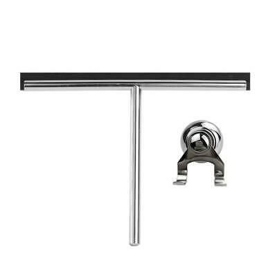 250mm Stainless Steel Bathroom Shower Glass Squeegee (G9) + Suction Hanger • 18£