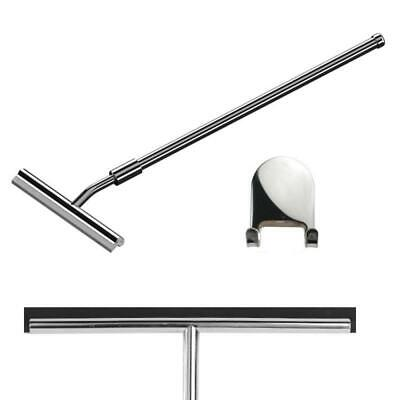 260mm Extendable Stainless Steel Glass Bathroom Squeegee (G20) + Sticky Hanger • 25£