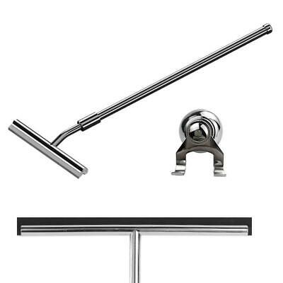 260mm Extendable Stainless Steel Glass Bathroom Squeegee (G20) + Suction Hanger • 25£