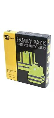 High Visibility Safety Vests  AA Family Pack • 6.99£